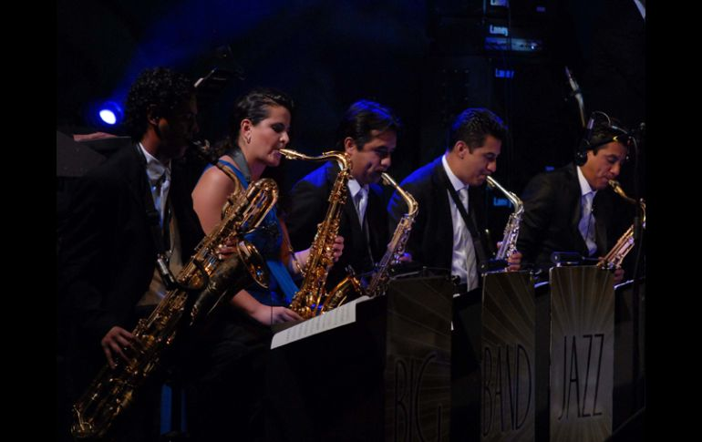 La Big Band Jazz de México en el Lunario del Auditorio Nacional. NOTIMEX  /