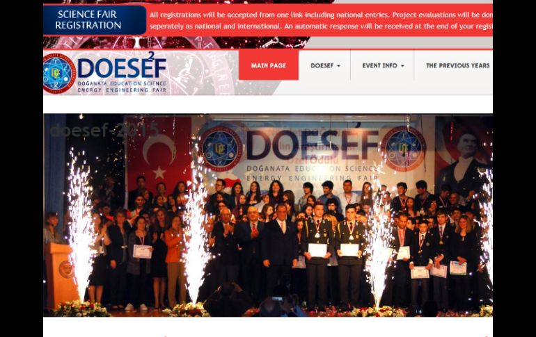 Los alumnos jaliscienses lograron destacarse en el 'Doganata education science enrgy engineering fair' en Turquía. ESPECIAL / www.doesef.org/eng/