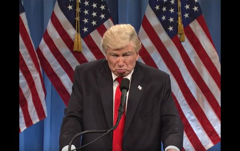 Alec Baldwin ha estado interpretando a Trump con regularidad esta temporada. YOUTUBE /  Saturday Night Live