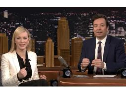 Cate Blanchett habló de 'The Present' e hizo una comparación con la situación de EU. YOUTUBE /  The Tonight Show Starring Jimmy Fallon