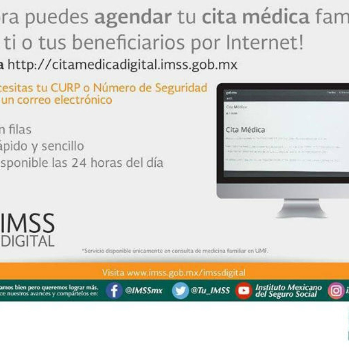seguro social imss citas por internet