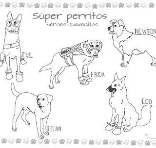 Frida Y Perritos Rescatistas Ahora Personajes Para Colorear