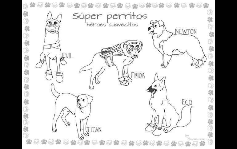 Frida Y Perritos Rescatistas, Ahora Personajes Para
