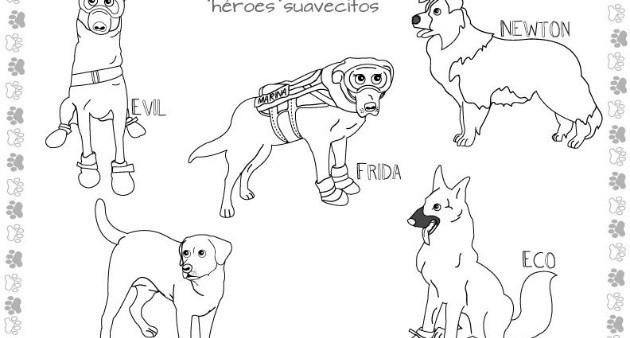 Frida y perritos rescatistas, ahora personajes para colorear | El ...