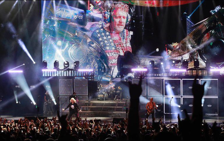 El grupo de rock anoche en el Auditorio Telmex. EL INFORMADOR/M. Vargas