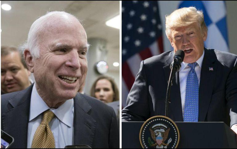 Trump lanza ultimátum a McCain