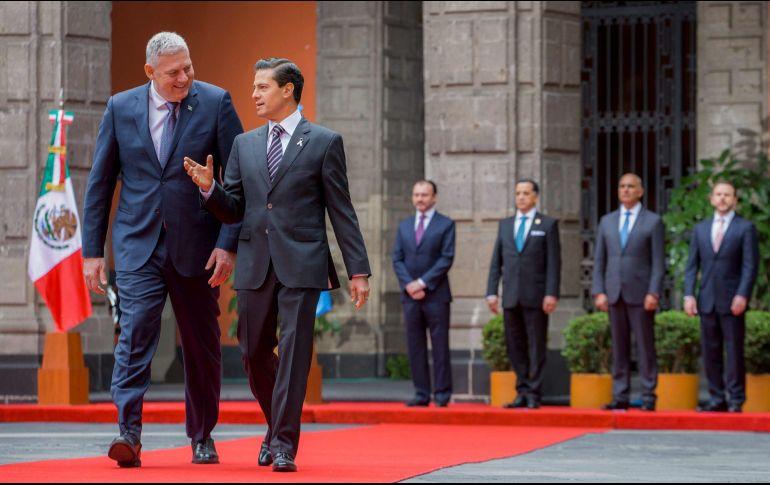 Peña Nieto recibe al primer ministro de Santa Lucía, Allen Chastanet