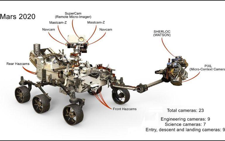 Robot de la NASA estudiará Marte con 23 cámaras