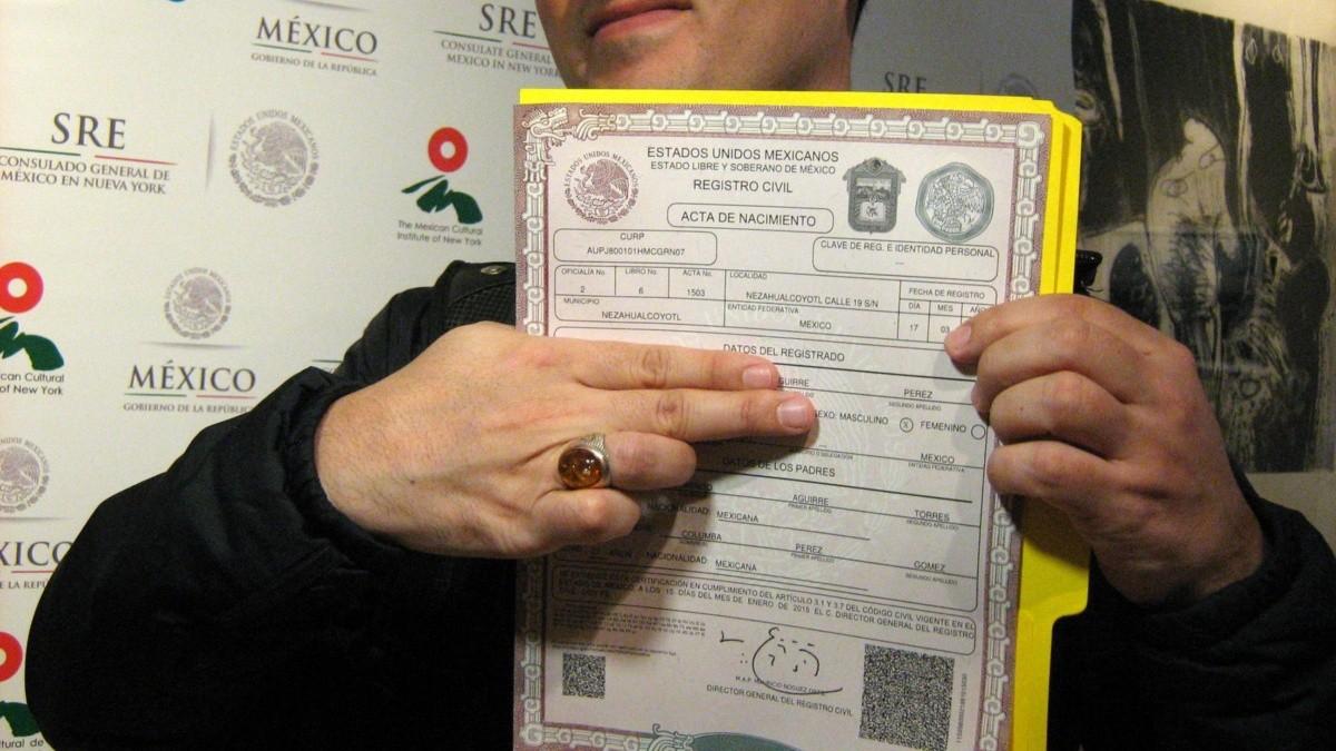 Magnífico Acta De Nacimiento Bronx NY Regalo - Certificado Actas de ...