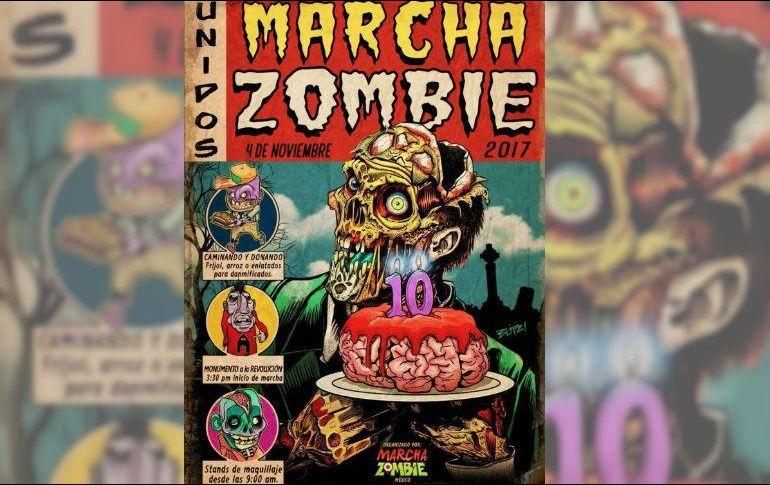 Zombies mexicanos marchan al Zócalo de Ciudad de México
