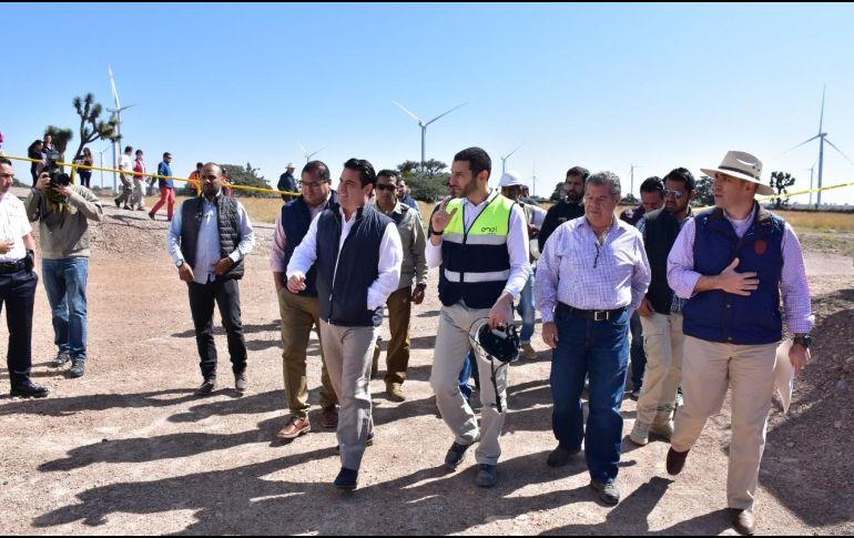 El Parque Eólico ayudará a la reducción de gases de efecto invernadero, al dejar de emitirse hasta 163 mil toneladas de dióxido de carbono al año. TWITTER / @JosePalacios