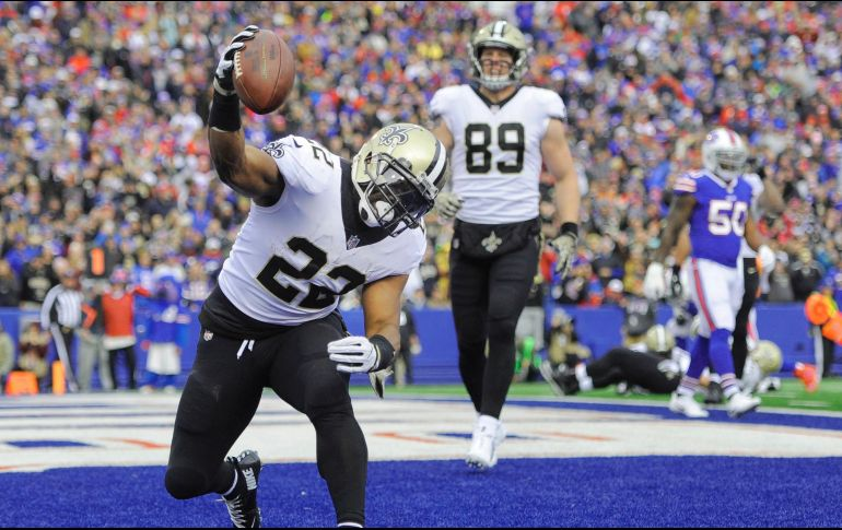 Mark Ingram anotó tres touchdowns, la mejor cifra en su carrera. AP / A. Kraus
