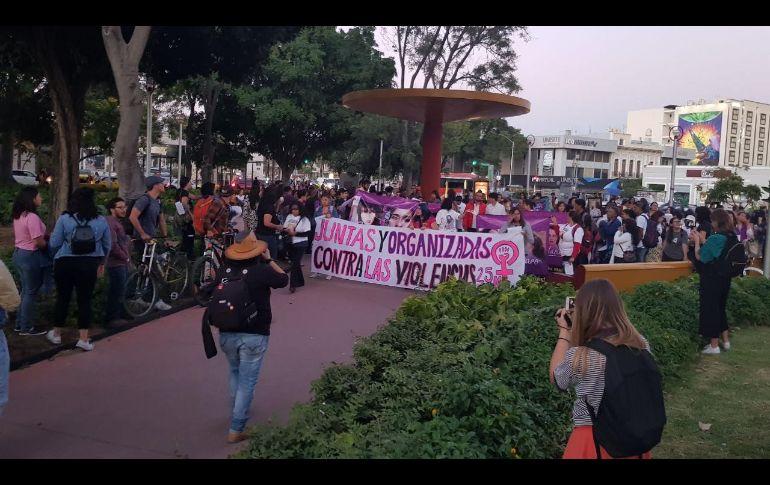 El punto de partida para la manifestación fue en el Parque Revolución. EL INFORMADOR/S. Blanco