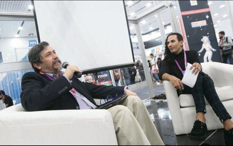 Armando Montes y Mariño González durante la apertura del Salón del Cómic y la Novela Gráfica. EL INFORMADOR  E. Barrera