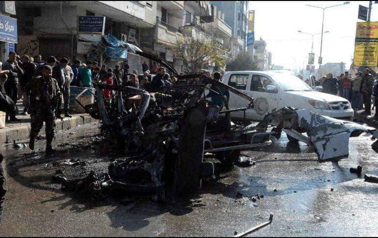 Explota microbús en la ciudad de Homs