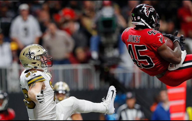 Con agónica intercepción, Falcons vencieron a Saints