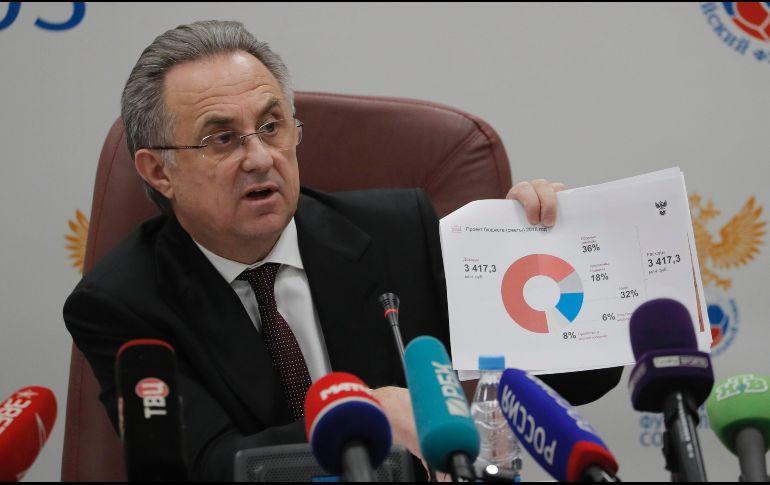A seis meses del mundial, presidente del fútbol ruso deja su cargo