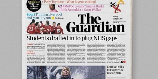 El diario brit nico the guardian debuta en formato for Noticias del dia espectaculos argentina