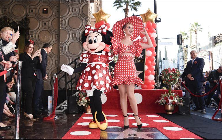 Minnie Mouse recibe su estrella en el paseo de la fama