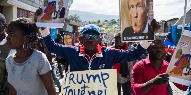 Haitianos vuelven a protestar contra Trump