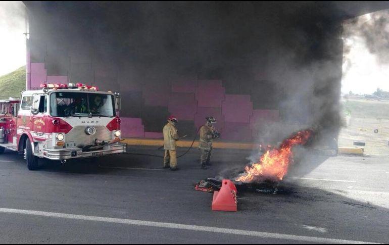 Habitantes de Ocotlán, Jalisco, se manifiestan con bloqueos y quemas de llantas
