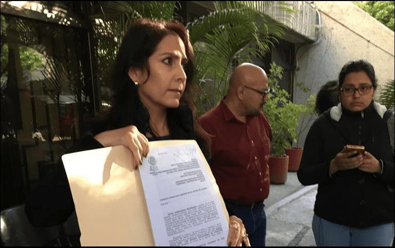 Diana Arredondo acudió a la CEDHJ a poner su queja. ESPECIAL