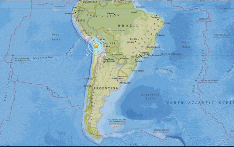 Sismo se registra en la zona centro sur del país