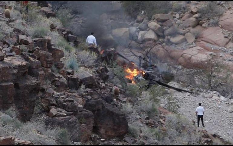 Al menos 3 muertos tras caída de helicóptero turístico al Gran Cañón