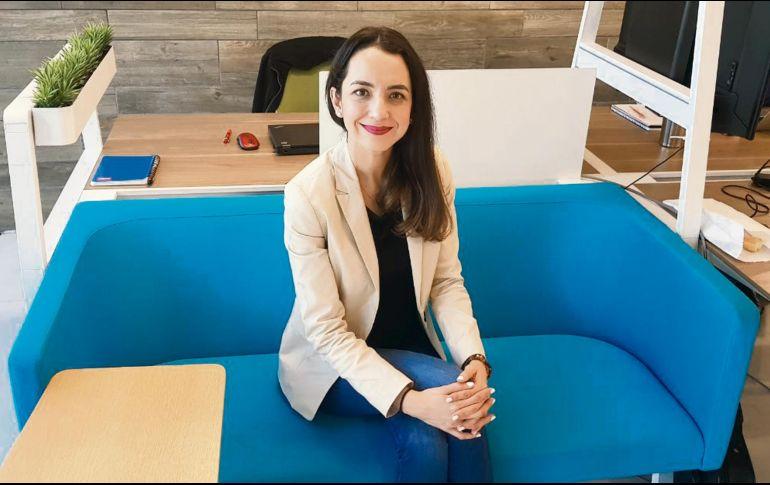María Guadalupe Ángel Rubio, directora general de Pitchbull, la cual ofrece préstamos de entre 65 y 500 mil pesos, con una tasa de interés de entre 8 % y 18 %. ESPECIAL