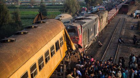 Resultado de imagen para Impactante choque de tren en Egipto deja más de 10 muertos