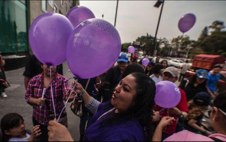 La manifestación que se llevará a cabo el próximo 8 de marzo, Día Internacional de la Mujer, en Plaza Liberación. EL INFORMADOR / ARCHIVO