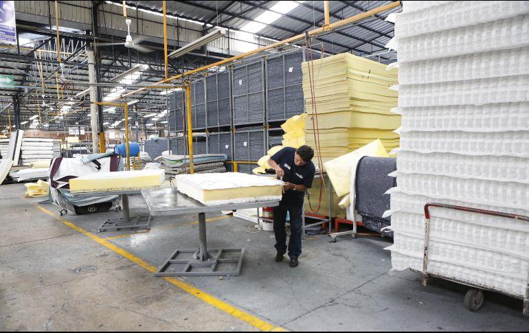 Con el internet de las cosas, Colchones Wendy monitorea el funcionamiento de su planta para eficientar la producción, la distribución y el mantenimiento a sus máquinas. EL INFORMADOR/G. Gallo