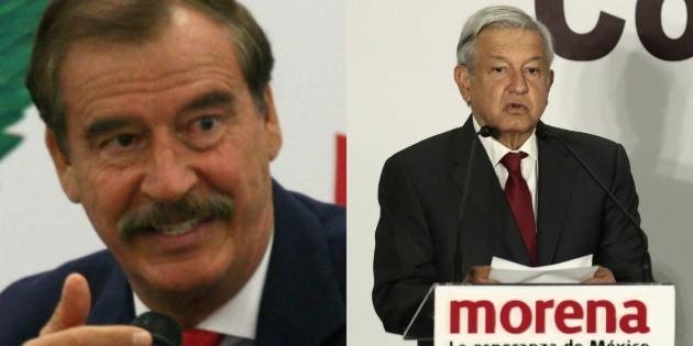 """A López Obrador """"le valen"""" las instituciones, asegura Fox"""