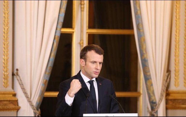 Macron advierte a Trump sobre riesgo de guerra comercial