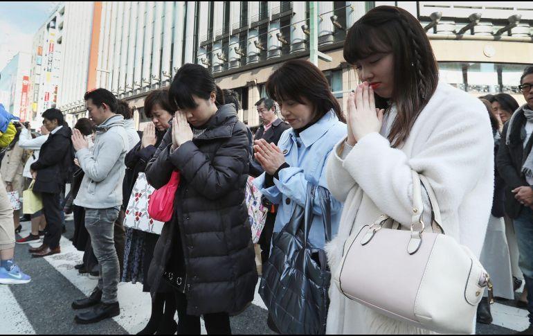 7º aniversario del tsunami y desastre nuclear de Fukushima — Japón