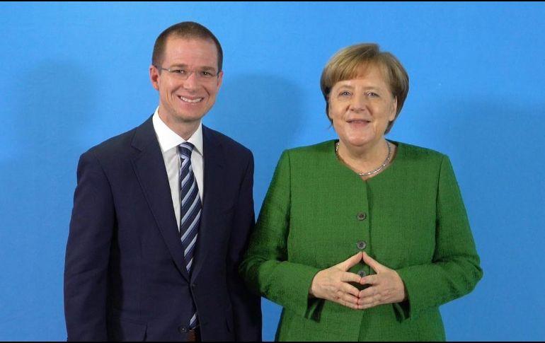 Anaya se reúne con Angela Merkel en Alemania