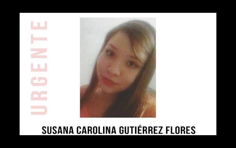Susana Carolina Gutiérrez, estudiante de Psicología de la Universidad de Guadalajara y reportada como desaparecida desde las 6:00 horas del 21 de marzo. ESPECIAL