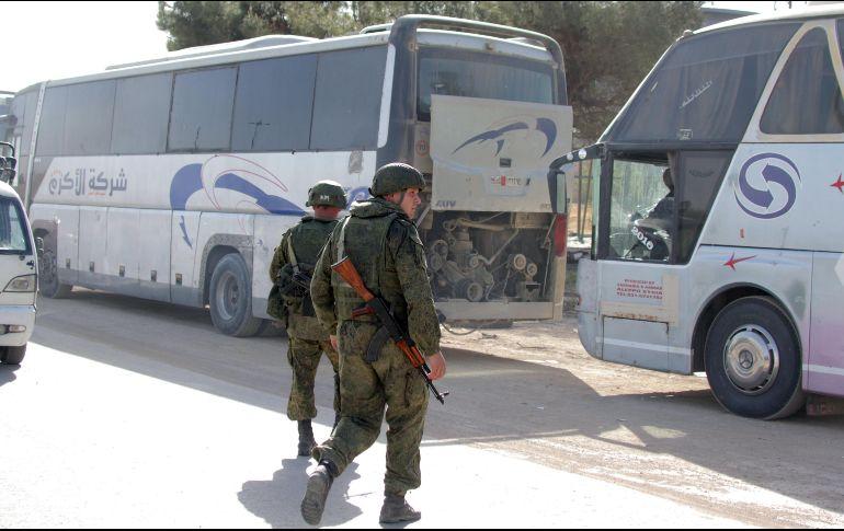 Casi 1.700 civiles salen de Guta Oriental el 28 de marzo