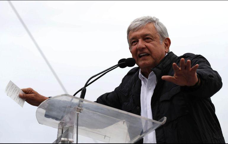 Cierra AMLO visita a Nuevo León, llenan plaza de Apodaca