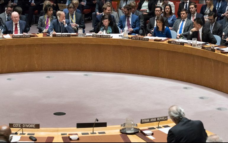 La embajadora de Estados Unidos ante la ONU, Nikki Haley, asegura que las acciones armadas emprendidas por Estados Unidos y sus aliados están