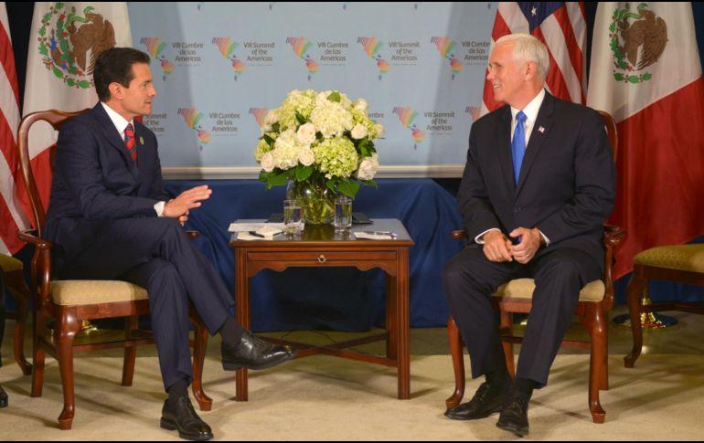 Peña Nieto y Pence hablan sobre TLCAN y otros temas