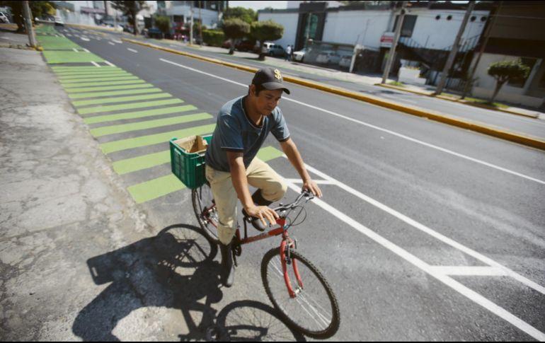 Sin motor. Así luce el área para pedaleros sobre la Avenida Arcos. EL INFORMADOR/F. Atilano
