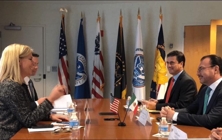 Videgaray y Nielsen se reúnen; acuerdan tratar temas de migración