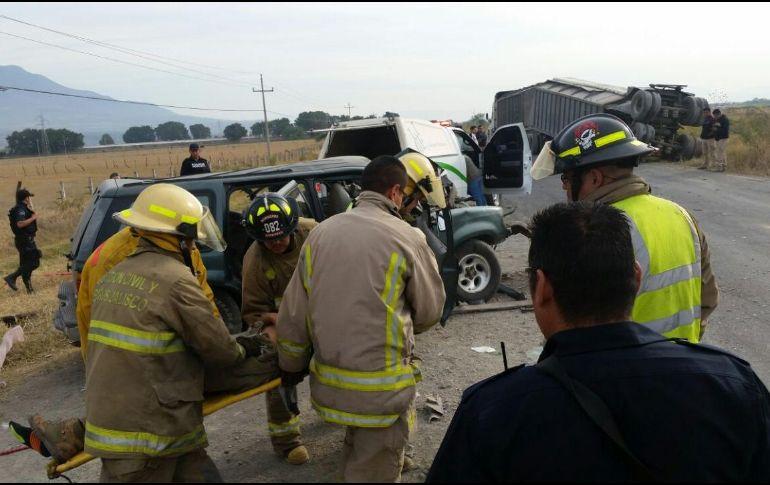 Accidente en la carretera libre a Ciudad Guzmán deja dos muertos