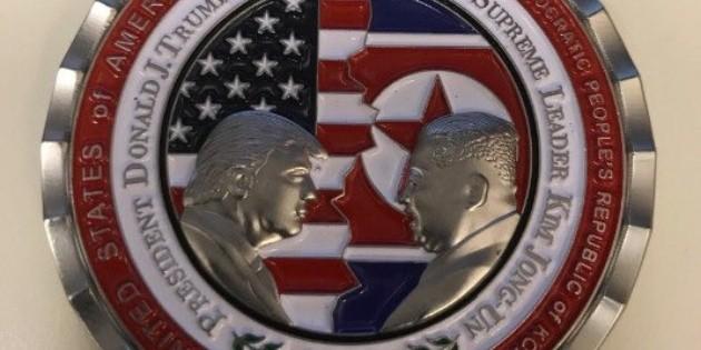Monedas del encuentro Trump-Kim, a remate