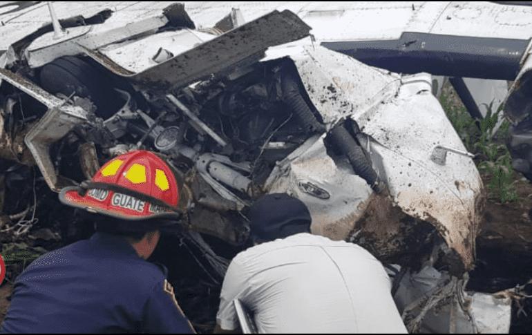 Dos muertos al desplomarse avioneta en oeste de Guatemala