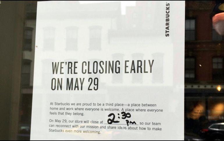 Starbucks cierra hoy 8 mil cafés en EUA para capacitar sobre discriminación