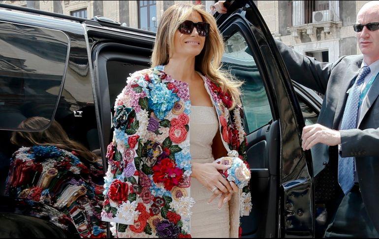 Melania Trump y su aparición pública