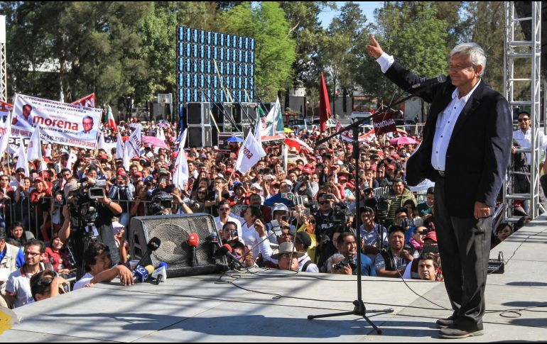 Gresca en Pachuca durante mitin de López Obrador
