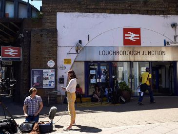 El accidente ocurrió en Loughborough Junction. AFP / N. Halle